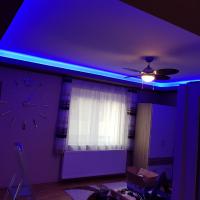 RGB led szalag mennyezeti világítás