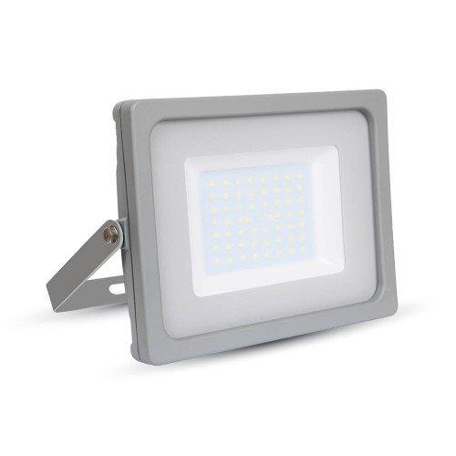 LED reflektor , 10 Watt , Ultra Slim , természetes fehér , SAMSUNG chip , 5 év garancia , szürke