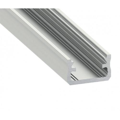 Alumínium U profil LED szalaghoz , 2 méter/db , MATT fedővel , CLICK