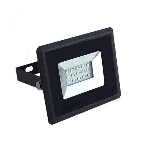 LED reflektor , 10 Watt , Ultra Slim , természetes fehér , E-series , fekete