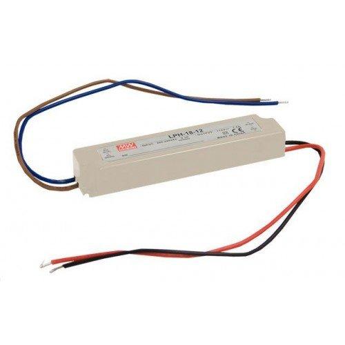 LED tápegység , Mean Well , LPH-18-12 , 12 Volt , 18 Watt , Slim , IP67