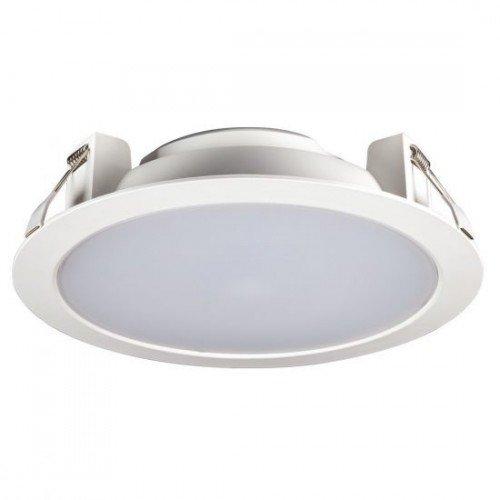 LED fényvető , mélysugárzó , 30 Watt , kerek , meleg fehér