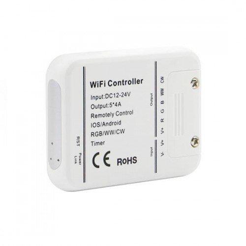 RGB-CCT LED szalag vezérlő , WIFI , Amazon Alexa és Google Home kompatibilis