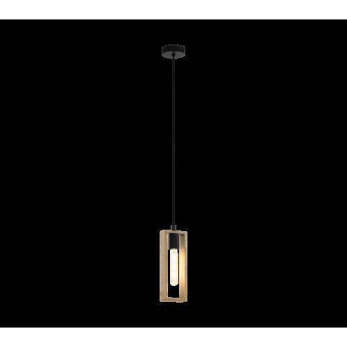 LED lámpa függeszték , mennyezeti , E27 , fa , fekete , EGLO , LITTLETON , 49473