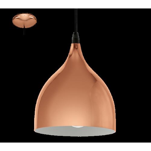 LED lámpa függeszték , mennyezeti , E27 , vörösréz , vintage , EGLO , CORETTO 2 , 94743