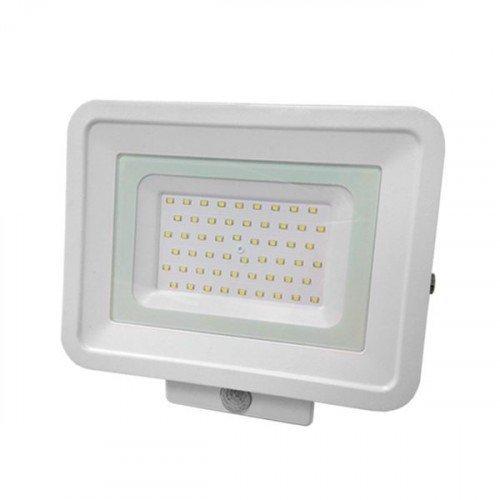 LED reflektor , 30 Watt , Ultra Slim , SMD , mozgásérzékelős , természetes fehér , fehér ház, Optonica