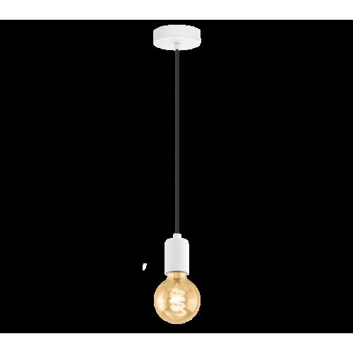 LED lámpa függeszték , mennyezeti , E27 , acél , fehér , EGLO , YORTH , 32527