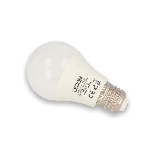LED lámpa , égő , körte ,  E27 foglalat , 10 Watt , természetes fehér , LEDOM