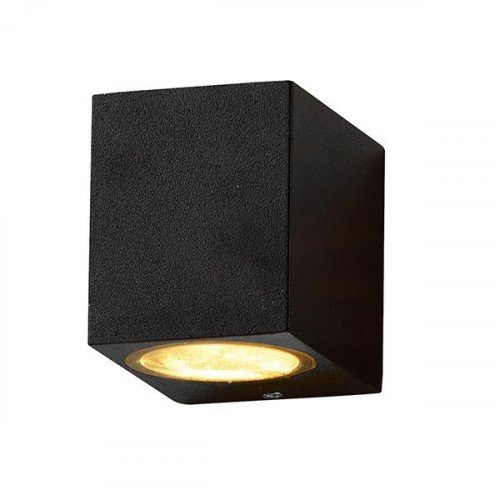 LED lámpatest , GU10 , oldalfali , 1 irányú , fekete , kültéri , IP44