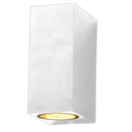 LED lámpatest , 2 x GU10 , oldalfali , 2 irányú , fehér , kültéri , IP44