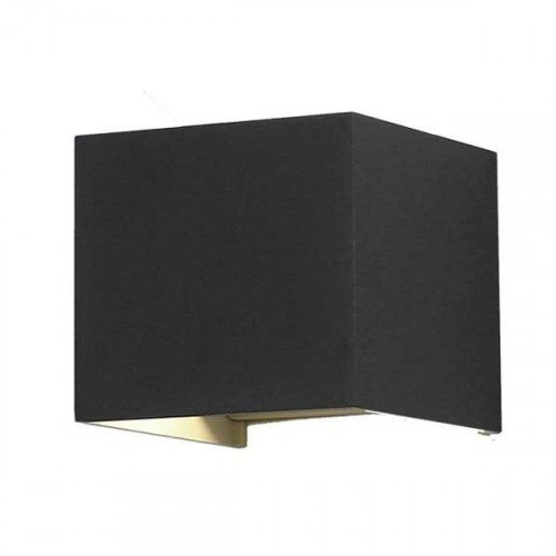 LED lámpatest , oldalfali , szögletes , 2 irányú , 6W , meleg fehér , állítható sugárzási szög , fekete , kültéri , IP44