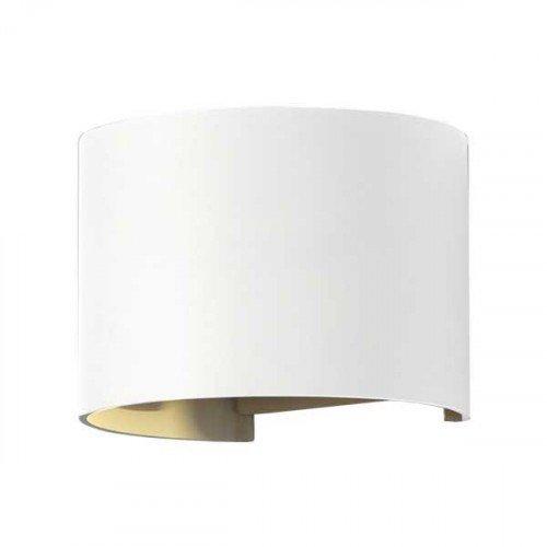 LED lámpatest , oldalfali , kerek , 2 irányú , 6W , meleg fehér , állítható sugárzási szög , fehér , kültéri , IP44