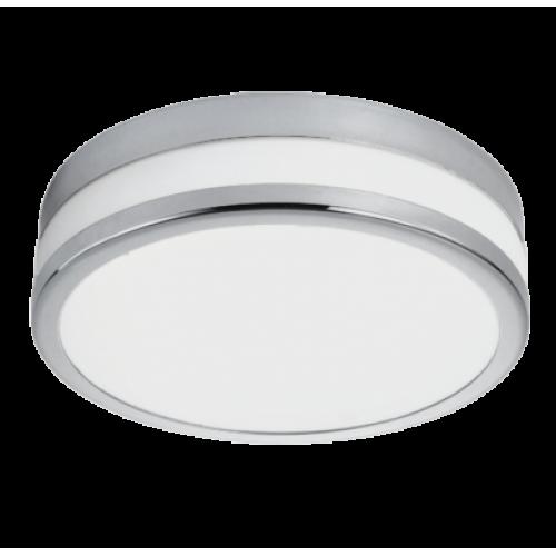 LED lámpatest , mennyezeti/fali , 11 Watt , meleg fehér , króm , IP44 , EGLO , LED PALERMO , 94998