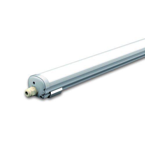 LED lámpatest , 60 Watt , 180 cm , Samsung Chip , kompakt armatúra , por- és páravédett , IP65 , sorolható , hideg fehér , 5 év garancia