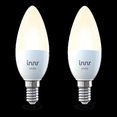 LED lámpa , égő , INNR , 2 x E14 , 2 x 5.3 Watt , meleg fehér , dimmelhető , Philips Hue kompatibilis