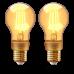 LED lámpa , égő , INNR , izzószálas hatás , filament , 2 x E27 , 2 x 4.2 Watt , borostyán sárga , meleg fehér , dimmelhető , Philips Hue kompatibilis