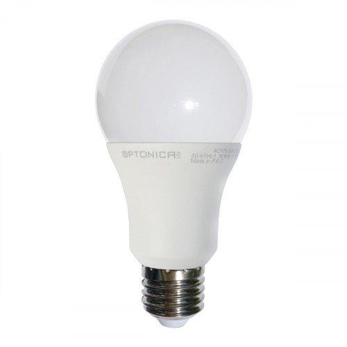 LED lámpa , égő , körte , E27 foglalat , 15 Watt , meleg fehér, Optonica