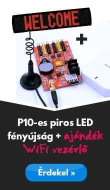 P10-es piros LED fényújság ingyenes WiFi-vel